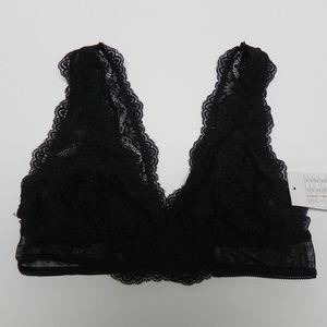 New Auden Black Lace Unlined Bralette Size Sm